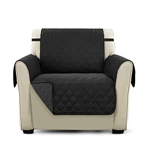 PETCUTE Lujo Cubre para Silla Fundas de Sofa Protector de sofá o sillón, Dos o Tres plazas Negro Silla
