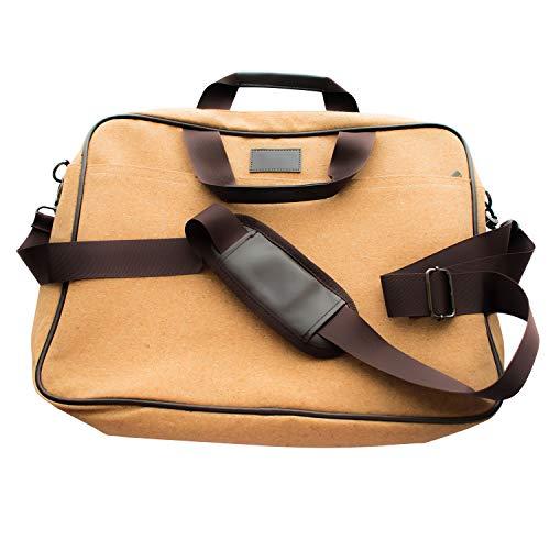 Gloweasy Vegan Laptoptasche aus nachhaltigem Kork - geeignet für Laptops bis 15,6 Zoll - inkl. wiederverwendbarer Geschenktasche