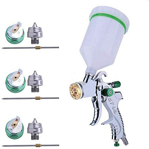 BONFQERT Automotive HVLP Air Spray Gun Set - Professional Air Paint Kits with 3 Nozzles and 600cc Cups on Top 1.4mm 1.7mm 2.0mm for Paint,Car Primer,Topcoat,Touch-Up