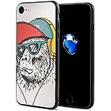 音楽が好き サル ゴリラ チンパンジー スマホケース IPhone8 ケース IPhone7 ケース おしゃれ 個性的 耐衝撃