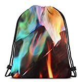 asdew987 - Zaino da viaggio, zaino per la scuola, unisex, con coulisse, per palestra, zaino casual, borsa a tracolla, borsa per allenatori con coulisse, colore: arcobaleno