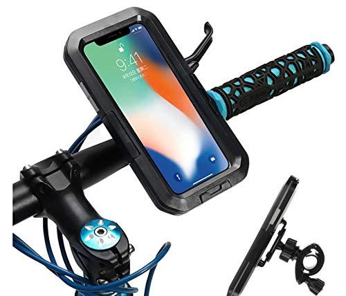 Soporte para teléfono de Bicicleta para Motocicleta, Funda Impermeable para Soporte de Manillar, Soporte para iPhone 12 12 Pro XS MAX 11 XR