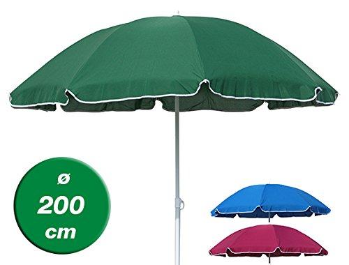Sonnenschirm Balkonschirm Strandschirm Ø 200 cm grün blau pink