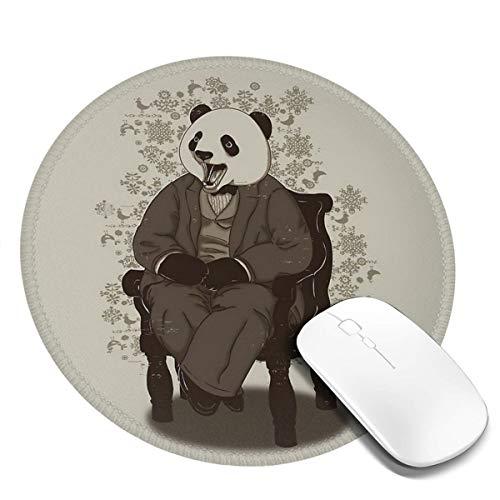 7.9x7.9 In ronde muismat Desk Panda In pak Spreekt Met Open Mond Toetsenbord Mat Big Mouse Pad Voor Computer Desktop PC Laptop