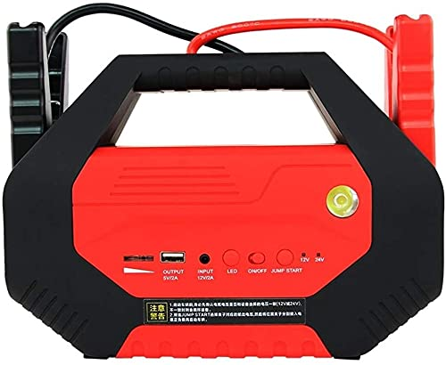 Arrancador de Coches, Auto Starter Portátil Portátil Batería Automóvil Emergencia Empezar Power 1000A Pico Alto Potencia Diesel Coche 12-24V Detonores portátiles, WQQWQQ-8521