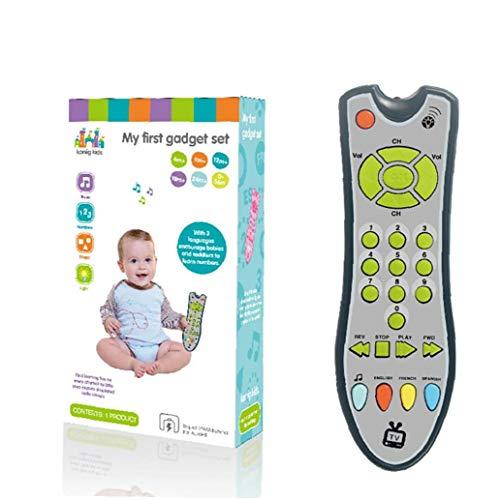 1pc Bébé Télécommande Toy Télécommande Tv Les Enfants Sound Control Musical Apprentissage Jouet Early Jouets Éducatifs Pour 1-3 Ans Bébés Garçons Et Les Filles (gray)