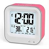 Reloj despertador Despertador rojo sensible al tacto iluminación del sueño despertador electrónico retroiluminado pantalla grande reloj de escritorio del estudiante promoción regalo cargando reloj