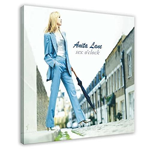 Australische Sängerin Songwriterin Anita Lane Frau mit Regenschirm, Wandkunst, Kunstdruck, Bild für Wohnzimmer, Schlafzimmer, Dekoration, 50 x 50 cm, Rahmen: 1