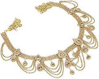 RITIH Stylish Golden Designer Traditional Gold Plated 2 in 1 Kamarband for Women and Girls - Waist Hip Chain with Beautifu...