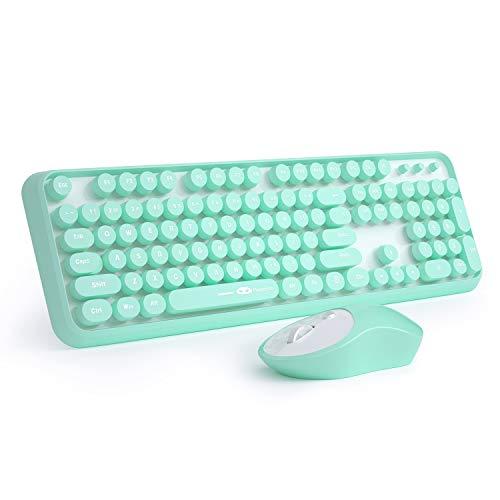 Juego de teclado y ratón inalámbricos V910, Verde