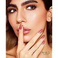 NAILD es la alternativa sencilla al estudio de uñas, hasta 14 días de permanencia y reutilizables, incluye pegamento, lima de uñas y palo de palo de rosa en un juego de diferentes diseños.