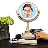 Miroir de Maquillage, vanité avec lumière LED, écran Tactile Miroir éclairé par Table cosmétique Rotation de 180 degrés réglable, grossissement 5X