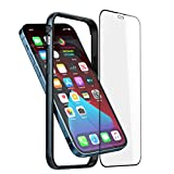 Slim Thin Phone Case Compatible with iPhone 12 Pro Max, Metal Bumper Cover with Soft TPU Inner [No Signal Interference][Support Wireless Charging] Compatible for iPhone 12 Pro Max, Blue