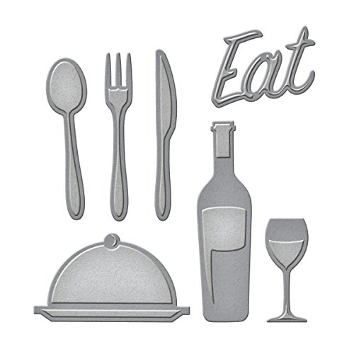 Spellbinders D-Lites–Troquel, diseño Foodie Die, Metal, marrón