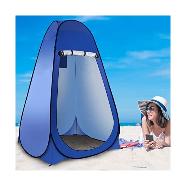 Laelr Pop up Toilet Tent, 4 Pack Shower Privacy Toilet Changing Room Changing Tent Foldable & Portable Beach Dressing… 4