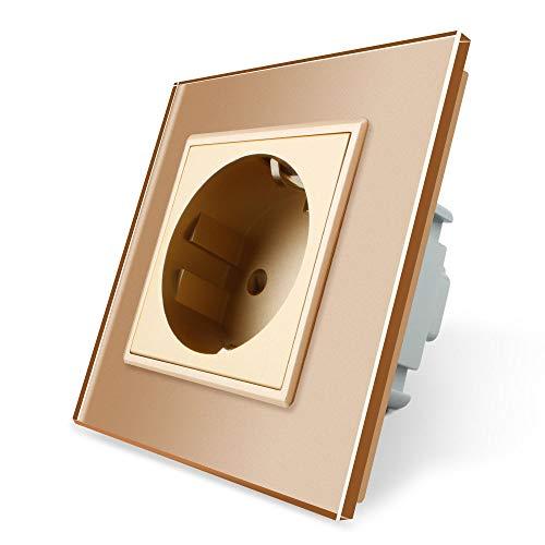 Steckdose Glas Gold 1 Fach VL-C7C1EU-13 LIVOLO
