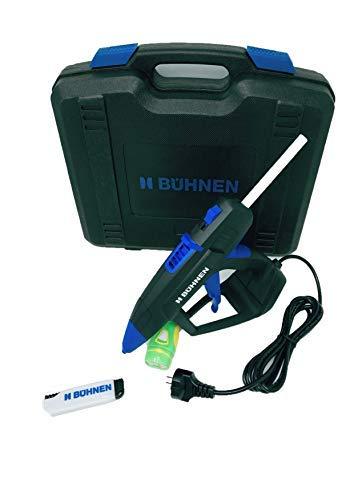 Bühnen Profi Heißklebepistole HB 240-300 Watt im Gerätekoffer + 1 Kg Klebesticks + Sicherheitsmesser & LED- Taschenlampe gratis, Klebepistole, Bastelkleber-Set