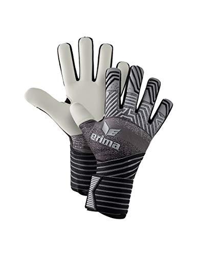 Erima Erwachsene Flex RD Pro Torwarthandschuhe, schwarz/grau/weiß, 10