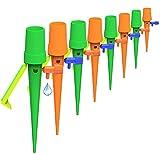 Sistema de Riego Automático Kit, Xndryan 12 Piezas Riego de Plantas en Vacaciones Riego Automatico Macetas Riego Goteo Botella LiberacióN Lenta Sistema De Riego con VáLvula De Control