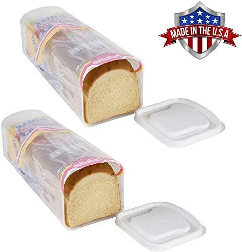 Bread Loaf Plastic Keeper Box Airtight Holder, Set of 2