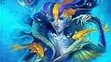 Zheng 60 * 40cm DIY 5D Diamante Pintura Kits-Sirena pintada a mano Ⅱ-5D Diamond Painting Completo Bordado Punto de Cruz Diamante Craft Decoración del hogar