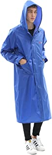 YUHANG Mens Womens Long Raincoat Waterproof Rain Jacket Fashion Reusable Rain Poncho with Hood Hiking Fishing Rainwear for...