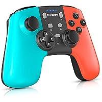 Gamory Mando pro Nintendo Switch,Mando Pro Controller Mando pc Inalambrico,Bluetooth Inalámbricos pro Nintendo Switch Gamepad controlador con Turbo Dual Shock Gyro Axi ajustable