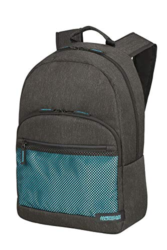 American Tourister Sporty Mesh - 15.6 Inch Laptop Backpack, 45 cm, 20.5 L, Grey (Anthracite/Blue)