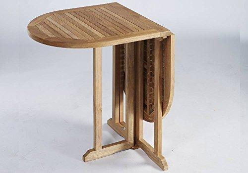 Preisvergleich Produktbild Destiny Tisch BALCONY PROMO Klapptisch 120x60 oval Holztisch - Tisch aus hochwertigem Hartholz Akazie