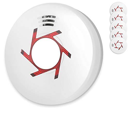 Rauchmelder 5er Set inkl. 5X 9V Batterie Geprüft Nach Din EN14604 und BSI Zertifiziert 5 Stück Rauchwarnmelder Feuermelder Brandmelder Feueralarm
