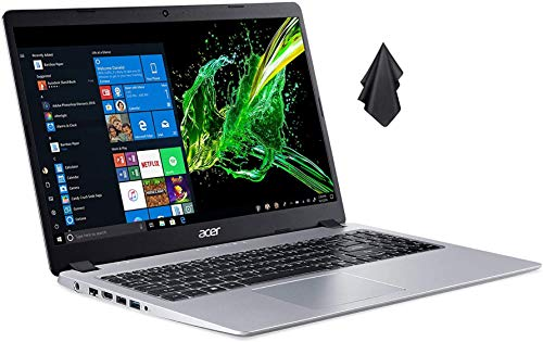 Acer Aspire 5 Slim Laptop Computer(2021 Newest), 15.6 inches Full HD IPS Display, AMD Ryzen 3 3200U, 8GB DDR4 RAM, 128GB PCIe SSD(Boot) + 500GB HDD, Backlit Keyboard, Windows 10 + Oydisen Cloth