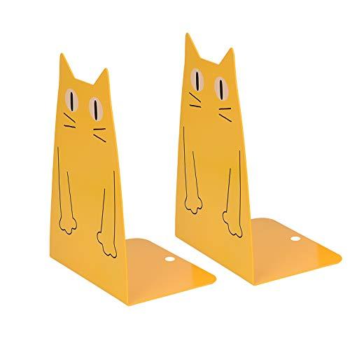 Kioneer Sujetalibros de metal para gato, un par de bonitos y