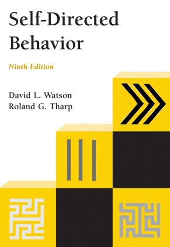 Self-Directed Behavior (PSY 103 Towards Self-Understanding)