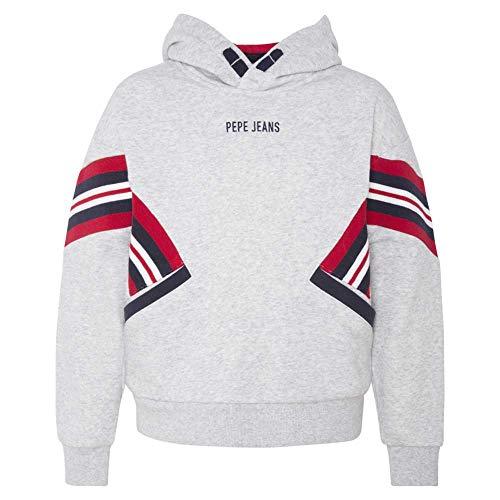 Pepe Jeans Sweatshirt Cropped c/ Capuz Cinzento 8 Anos
