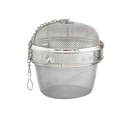Stainless Steel 3 Inch Twist-Lock Spice Ball Chained Lid Sphere Mesh Tea Strainer Herb Spice Filter