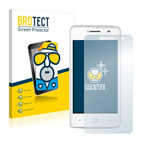 BROTECT 2X Entspiegelungs-Schutzfolie kompatibel mit ZTE Blade C341 Bildschirmschutz-Folie Matt, Anti-Reflex, Anti-Fingerprint