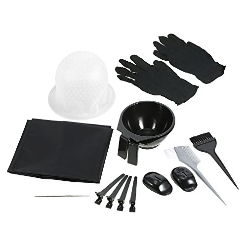 Haarkleuring verven Kit, Bowl Brush Salon Schort Haar Cap Haak Sectioning Clips Kappers verven Tool, Borstel Kam Haarspelden Voor Salon Barbers