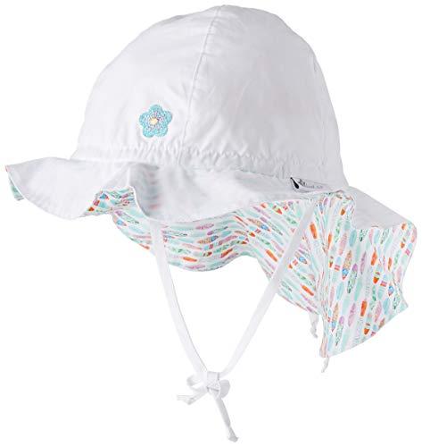 Sterntaler Baby-Mädchen Sun Hat With Neck Protection Sonnenhut, Weiß (Weiss 500), 53