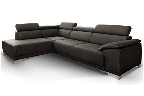 Designer Polster-Ecksofa Amalfi Candy Sofa 3C Polstersofa Wohnlandschaft XXL mit Ottomane (235 x 290 cm)