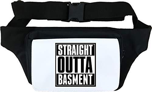 Straight Outta Basement Slogan Marsupio