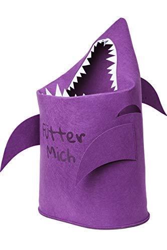 Aufbewahrungskorb Kinderzimmer aus Filz | Korb für Spielzeug, Wäsche, Kinder | Baby Wäschekorb Hai