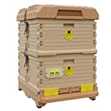 Apimaye 10 Frame Langstroth Insulated Bee Hive Set with Plastic Handy Frames