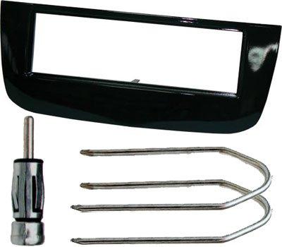 Mascherina autoradio SINGOLO DIN connettore antenna ISO chiavi smontaggio radio mascherina colore NERO. Consulta la sezione 'DESCRIZIONE' per vedere la compatibilità veicoli.
