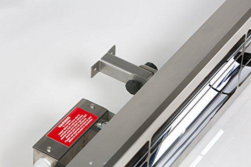 Alfresco Heizstrahler – ALF25 99cm lang, mittelwelliger elektrischer Infrarot- Heizstrahler mit 2.5 Kilowatt für Aussenbereich - 2