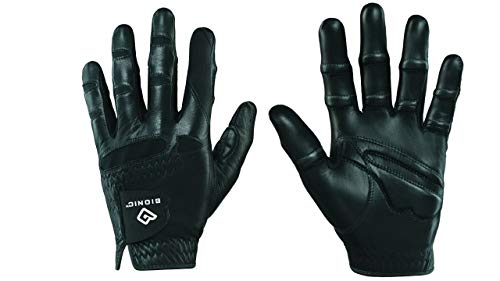 Bionic GGNBMLML StableGrip masculina com ajuste natural, luva de golfe preta, mão esquerda, média/grande
