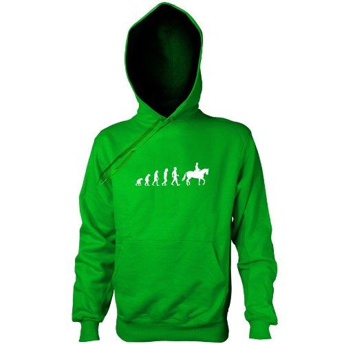 Texlab - Reiten Evolution - Kapuzenpullover, Herren, Größe S, grün