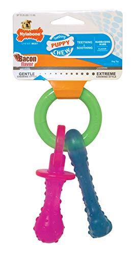 Nylabone - Teething Pacifier juguete para dentición de cachorros