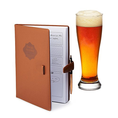 Home brew Journal for Craft Beer Homebrewers | Homebrew Logbook w/ space for 70+ recipes | Beer...