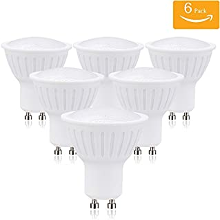 (Pack of 6) GU10 LED Bulbs, 70W Halogen Bulbs Equivalent, 7W Dimmable, 700lm, 120 Degree Beam Angle, LED Light Bulbs, 3000K Soft White