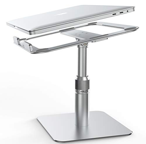 VMEI Laptop Ständer, [Can 360 Rotating] Ergonomischer Verstellbarer Laptop ständer Kompatibel mit MacBook/Air/Pro/Dell XPS/HP / All10-17,3' -Laptops/Alle Tablets-Silber